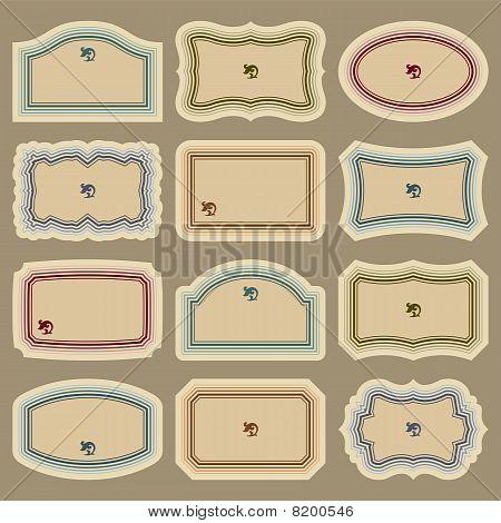 blank vintage labels set (vector)