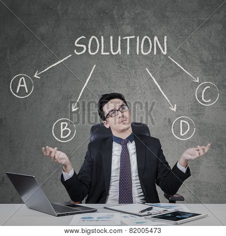 Confused Man To Choose A Solution