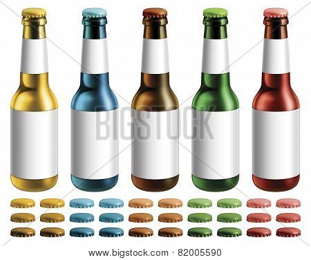 Labeled Beer Bottles