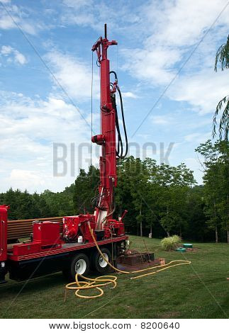Drilling Well In Yard