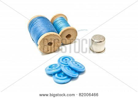 Buttons, Thread And Thimble