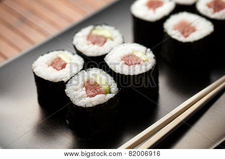 Maki Sushi With Raw Tuna