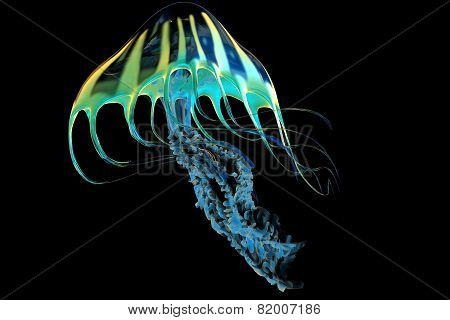 Yellow Striped Jellyfish