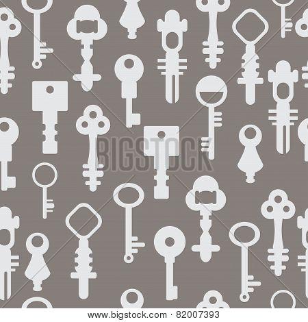 Pattern Retro Keys Vector