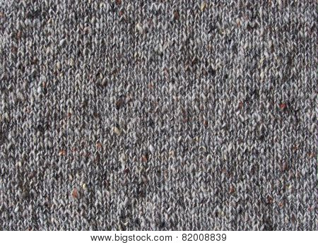 Knitted gray tweed pattern