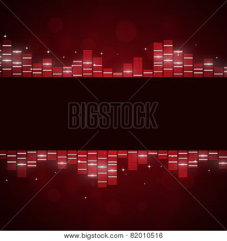 Red Music Background