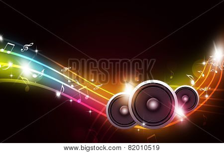 Music Multicolor Background