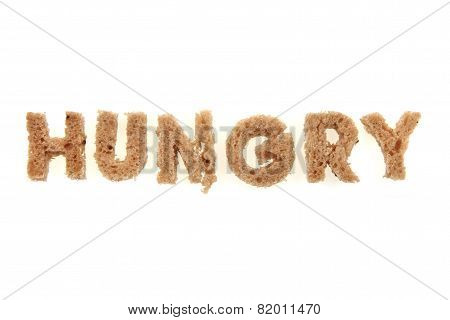 Hungry From Bread Alphabet