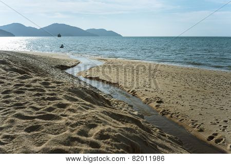 waterway on the beach