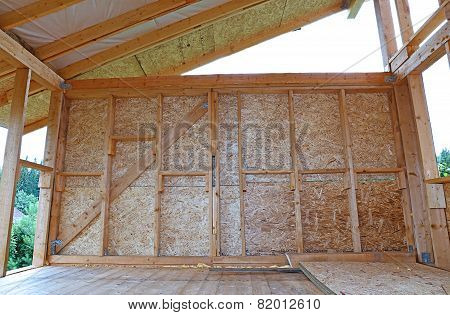 Construction Of Wood Frame Walls Of A Country House