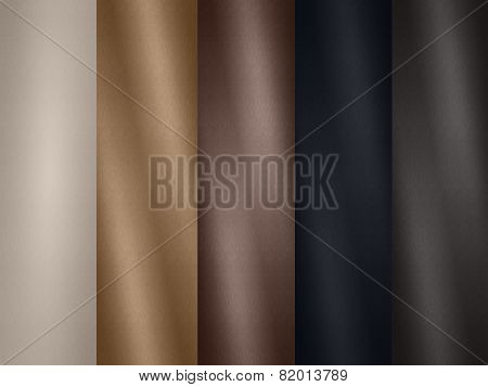 Leather texture palette samples