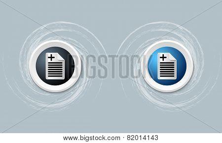 Document Icon And Plus Symbol