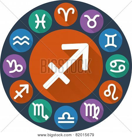 Signs Of The Zodiac Circle - Sagittarius