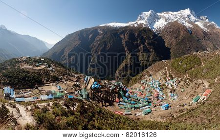 Namche Bazar And Mount Kongde