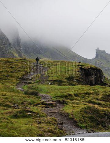 Footpath To The Quiraing Mountain, Isle Of Skye
