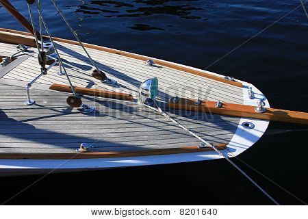 Classic Wooden Sail Boat Stern