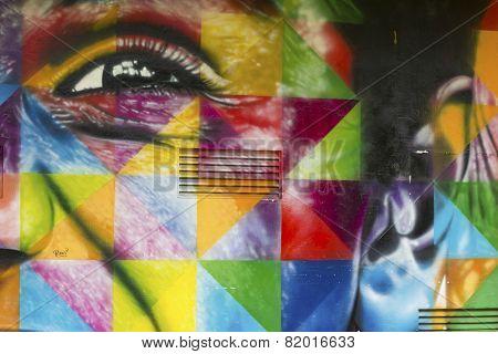 Mural From Brazilian Graffiti Artist Kobra In Sao Paulo