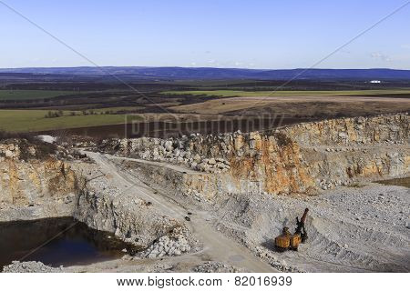 Quarry Against The Background Of Nature