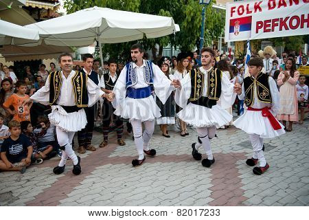 Four Greek Dancers