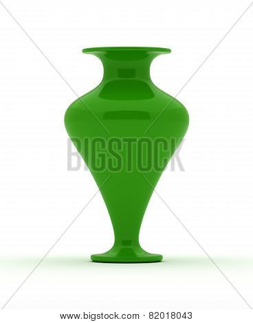 Single Green Vase