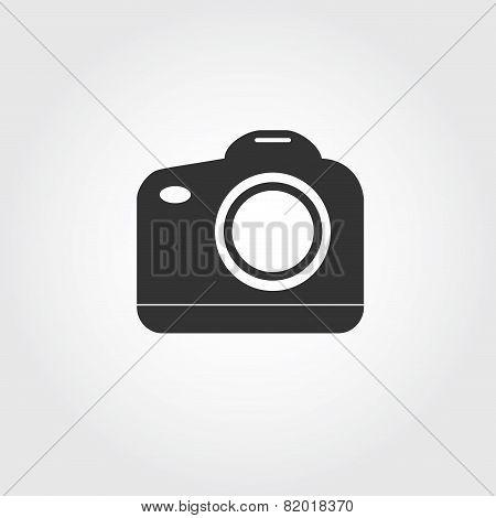 reflex camera icon, flat design