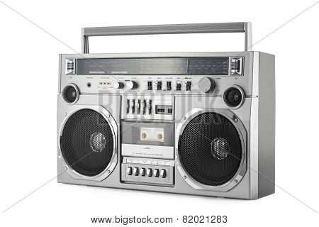 Boom Box Isolated On White With Clipping Path