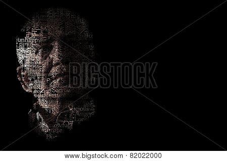 Artistic Portrait Of Unhappy Man