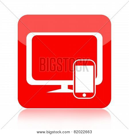 Smartphone and computer icon
