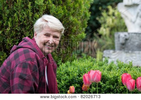 Senior Woman In Garden