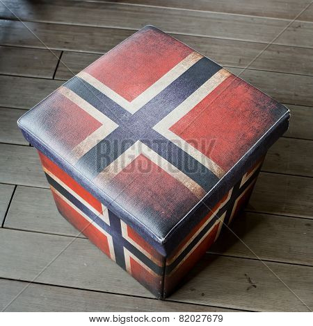 Empty Stool Box - American Flag Graphic Useful Stool, Inside Is The Box That You Could Keeping Thing