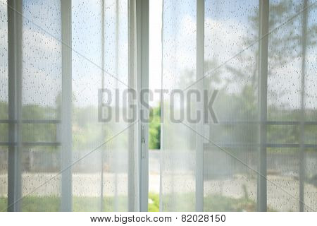 White Curtain In The Room