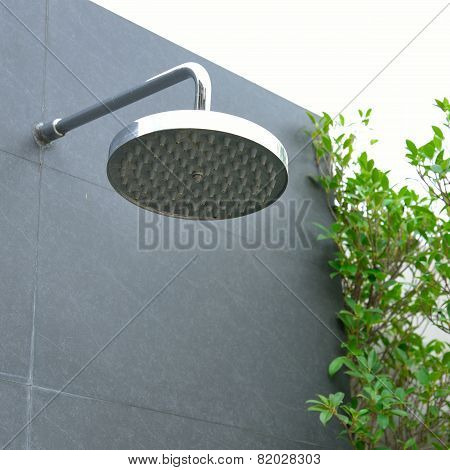 Head Shower At Swimming Pool