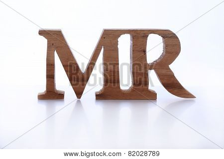 Wood Sign Of Mister (mr)