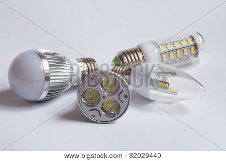 Different Led Lamps.