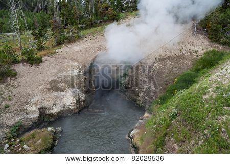 Hot Steam Volcanic Cave