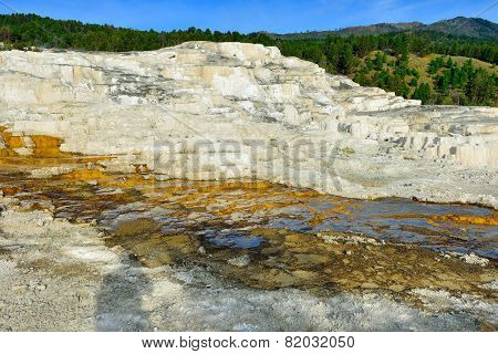 Minerva Terrace In Mammoth Hot Springs Area Of Yellowstone National Park, Wyoming