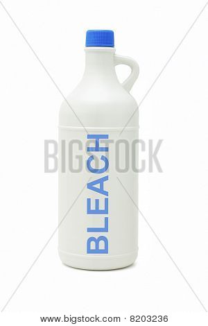 Bottle Of Household Bleach