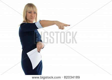 Photo of dissatisfaction business woman