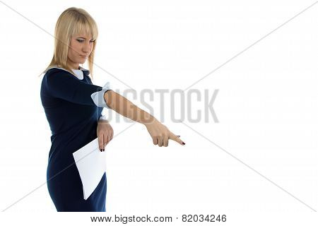 Image of dissatisfaction business woman