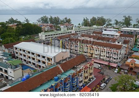 Phuket,TH-Sept,24 2014: Top view of Karon - the second largest recreation center on Phuket