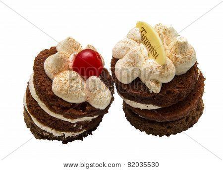 Two delicate Cake tiramissu