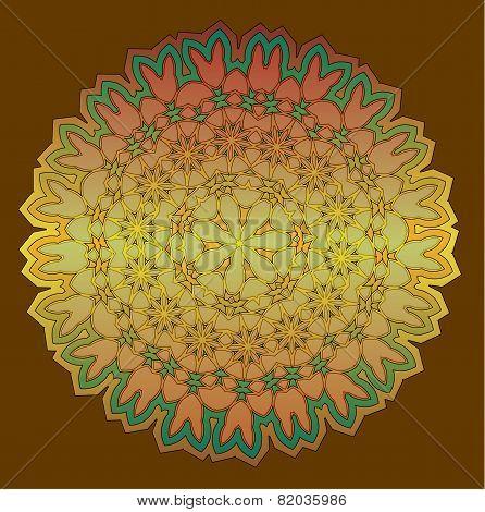 Lace  Floral Colorful Ethnic Ornament Kaleidoscop