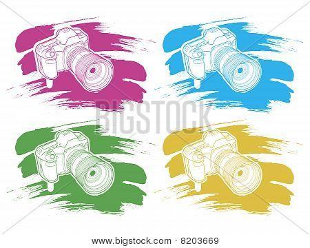 cámara con cepillo