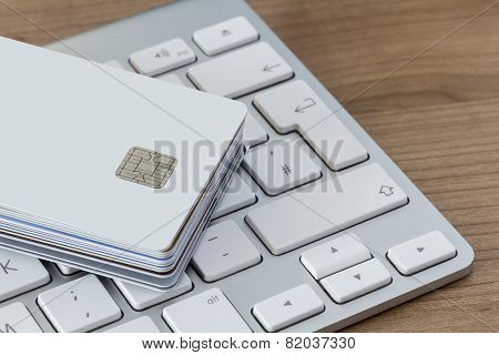 Credit Cards And Keyboard