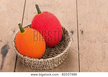 Baby Jackfruit On Wooden Background