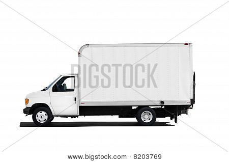 Delivery truck isolated on white