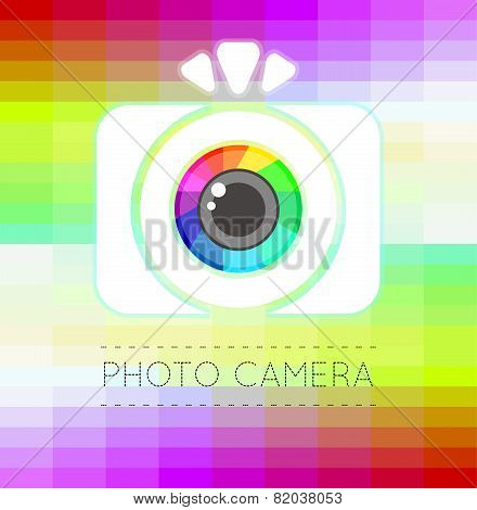 Single Flat Photo Camera Icon