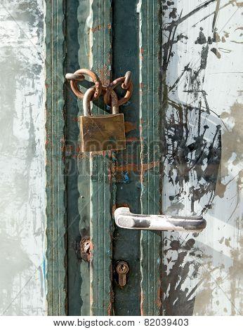 Padlocked Door