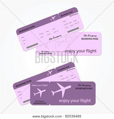 Variant of air ticket. Vector illustration.