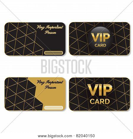 VIP Cards Black and Gold